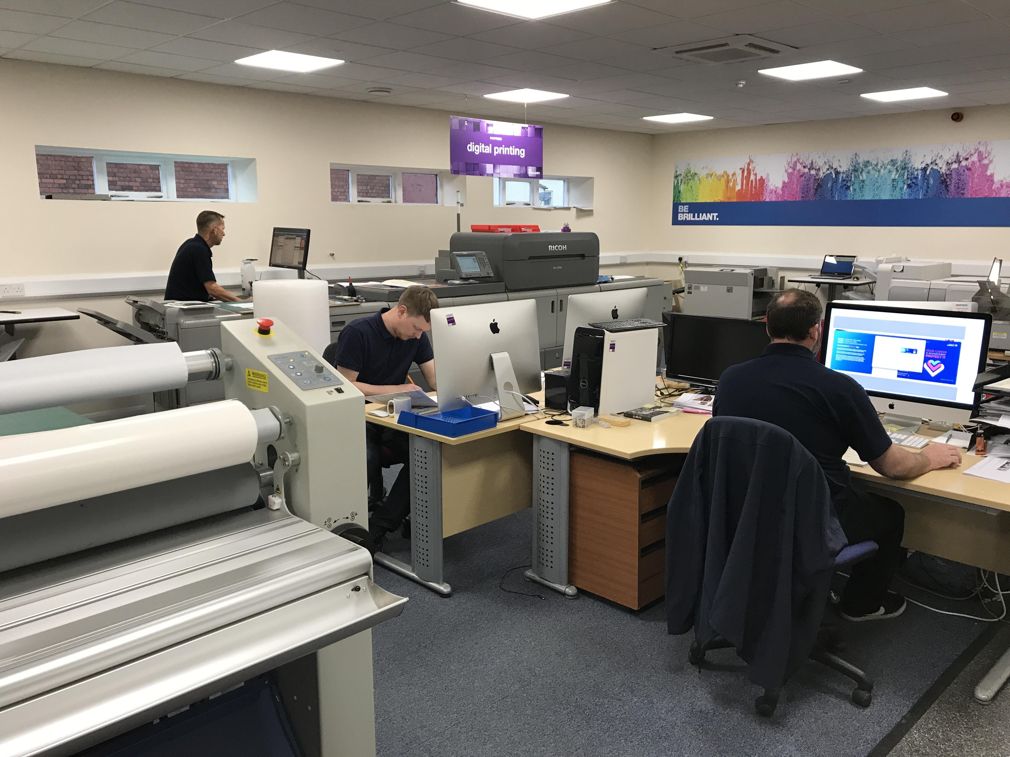 Ricoh digital printer in print studio