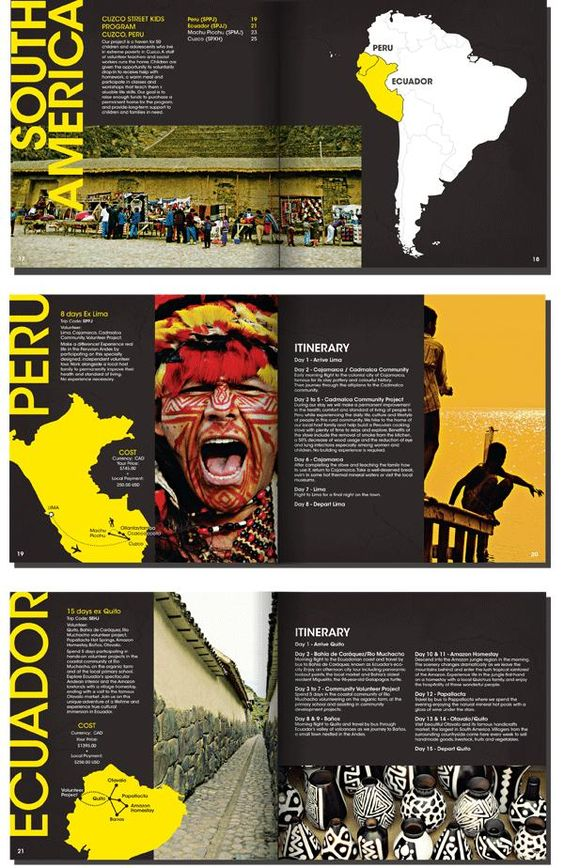 yellow and black brochure