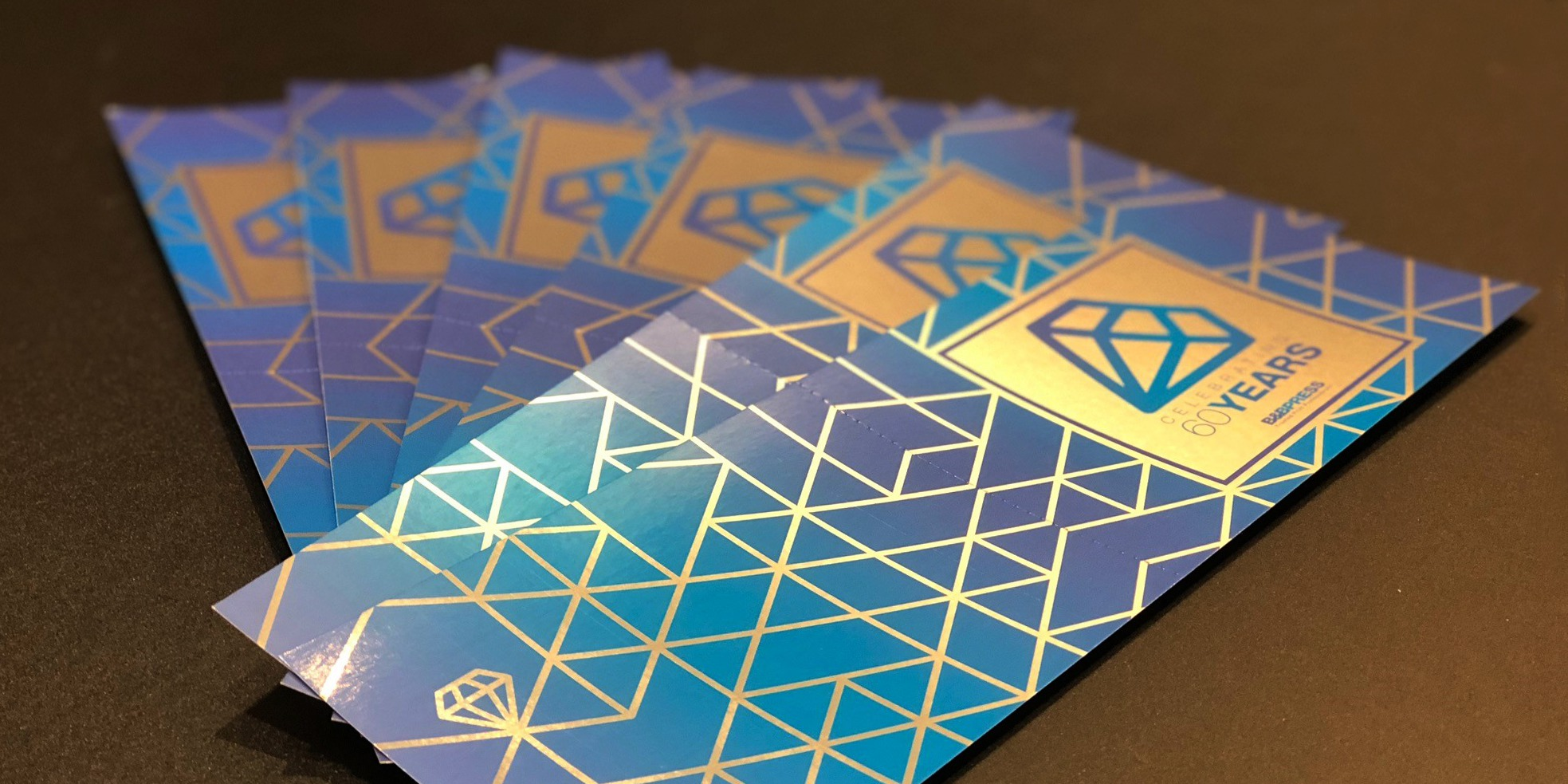 Tickets for 60th anniversary with the silver foil effect