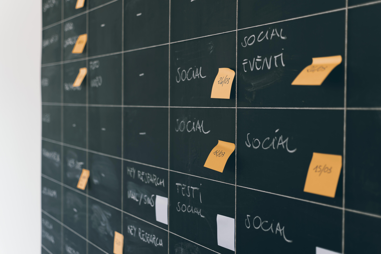 Event planning chalk board