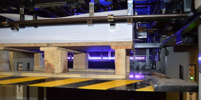An LED UV Printing Press In Action
