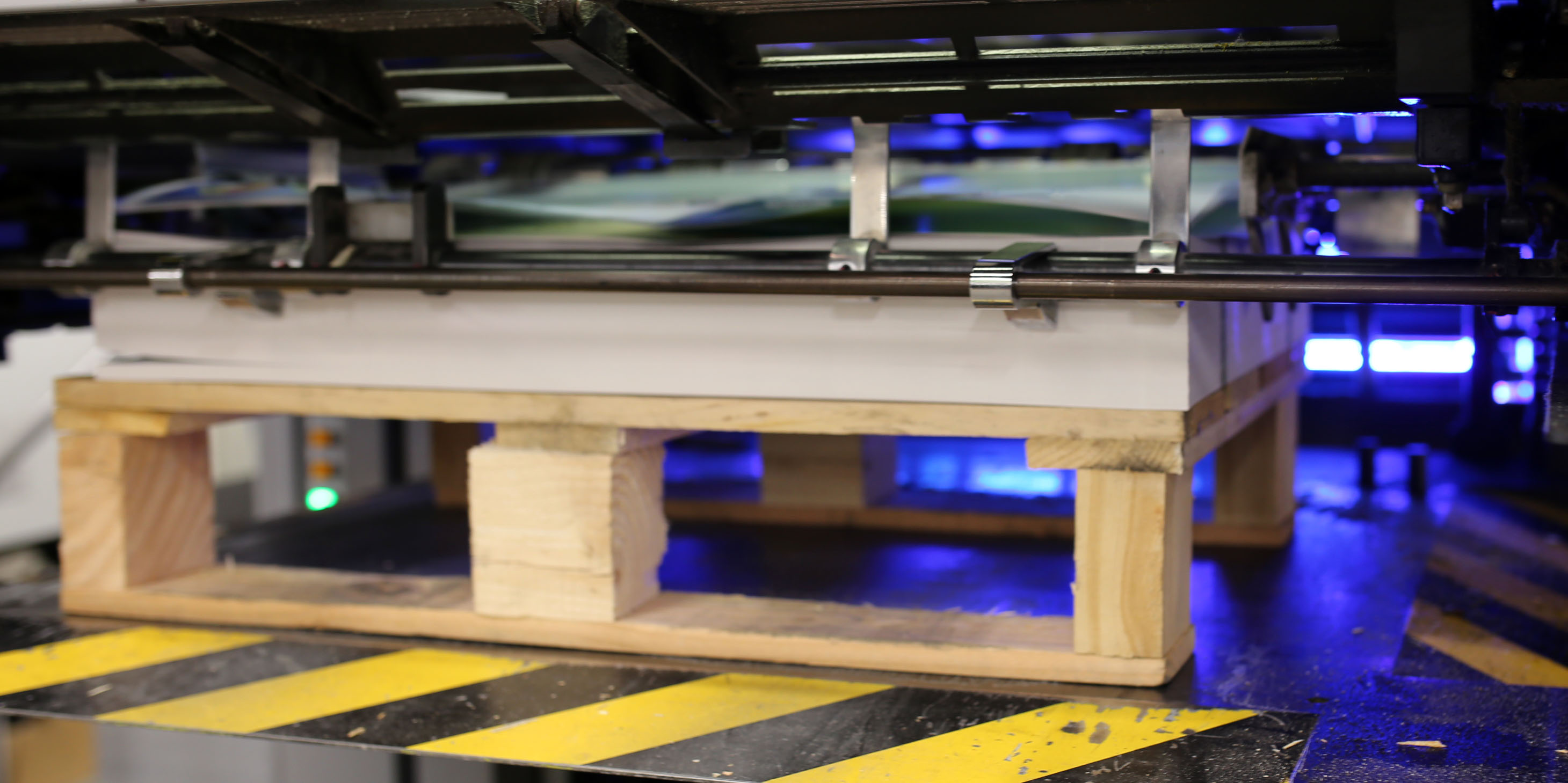 An LED UV Printing Machine