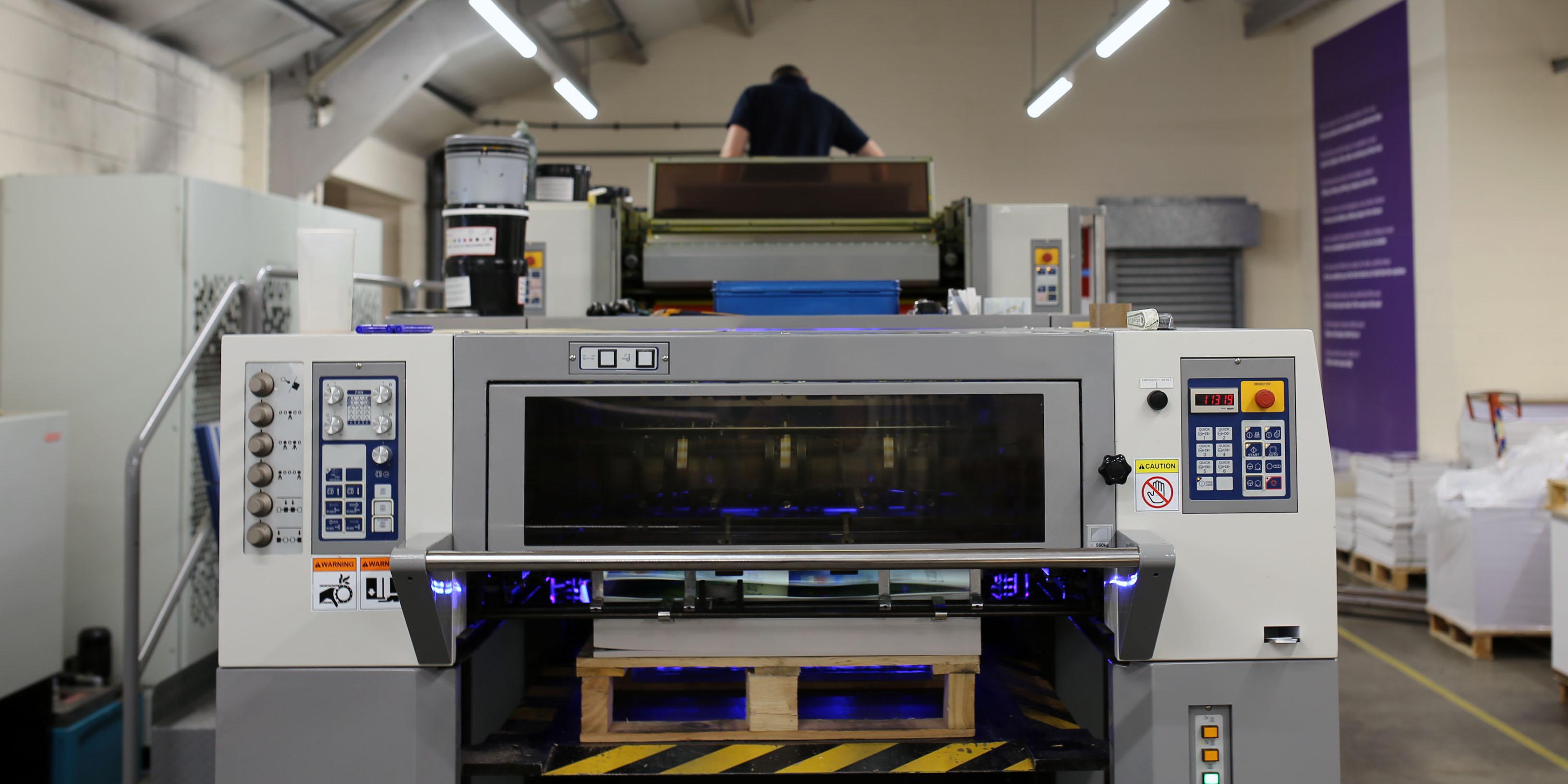 B&B Press LED UV printing machine