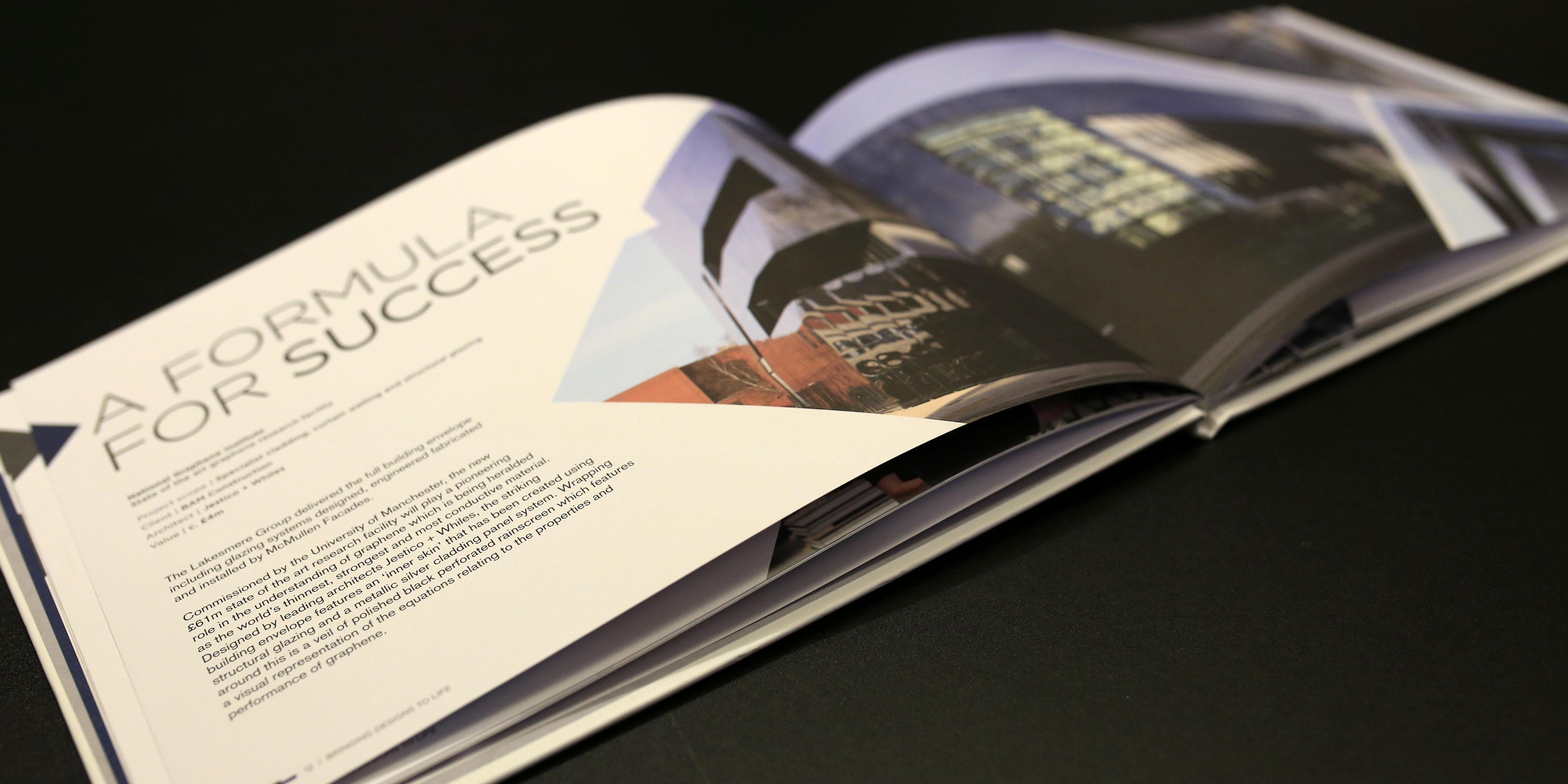 A luxury brochure