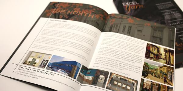 Excel Yarn Magazine Open