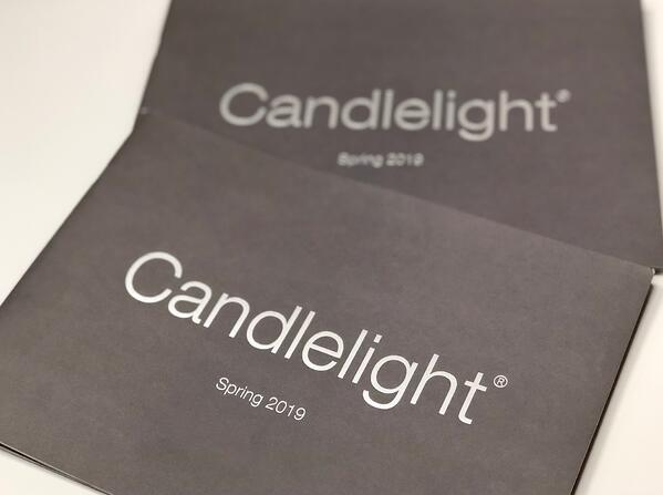 Front cover of Candlelight brochure