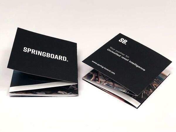 Front and back of the Springboard leaflet