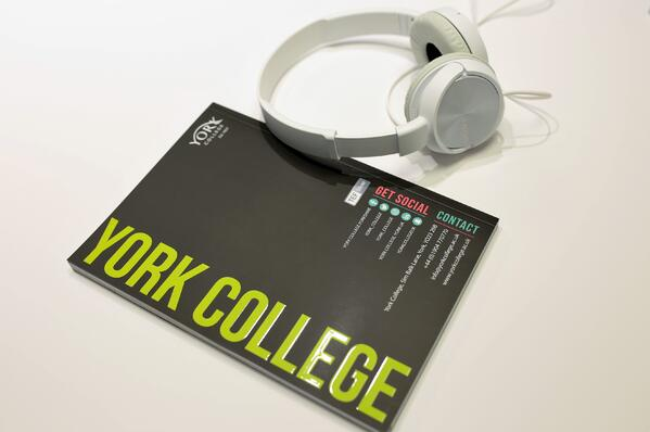 Back cover of York College HE Prospectus