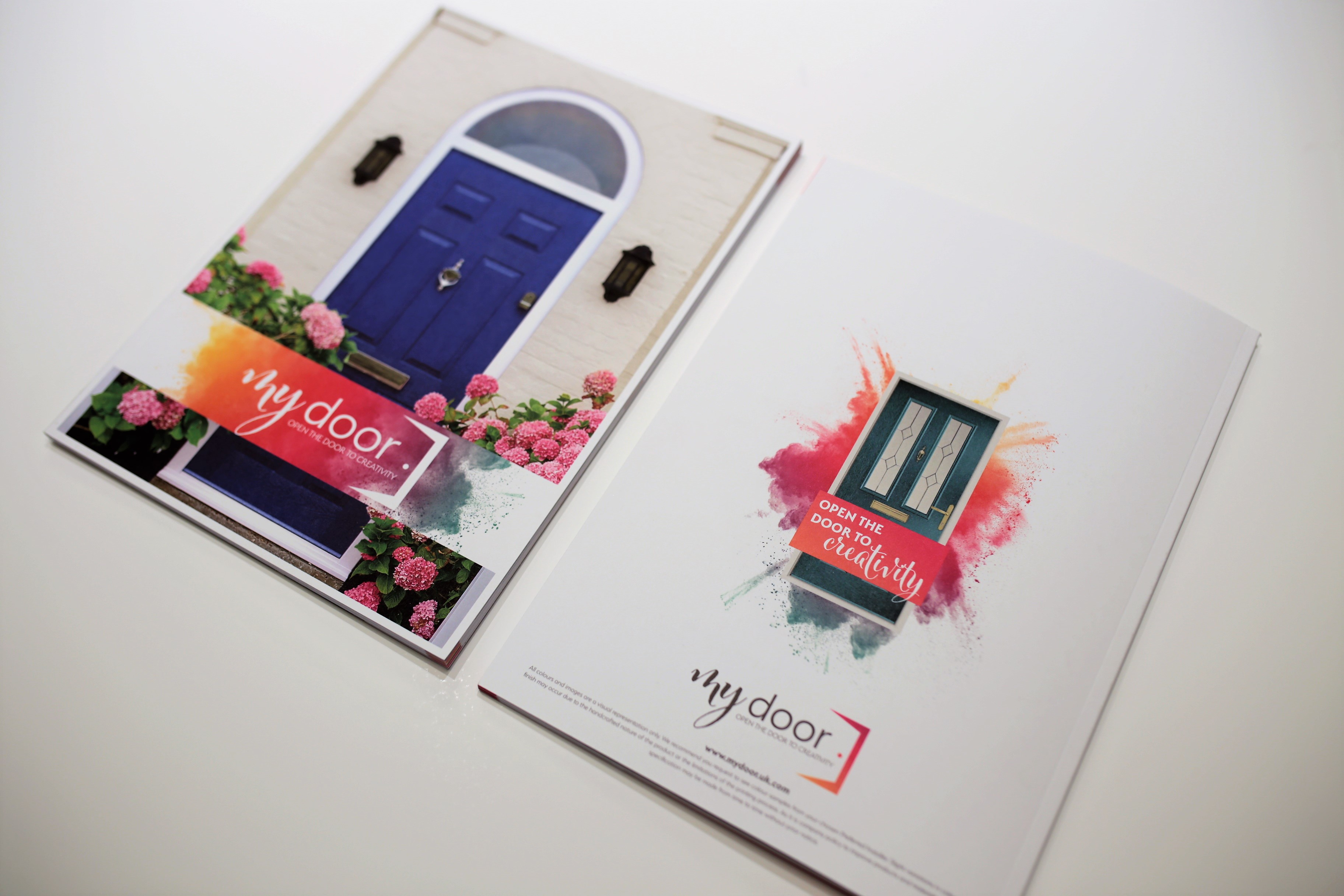 Front and back cover of My Door brochure