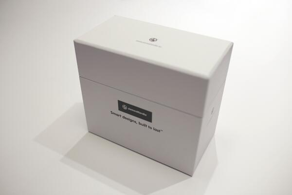 Image of James Hardie's closed sample box
