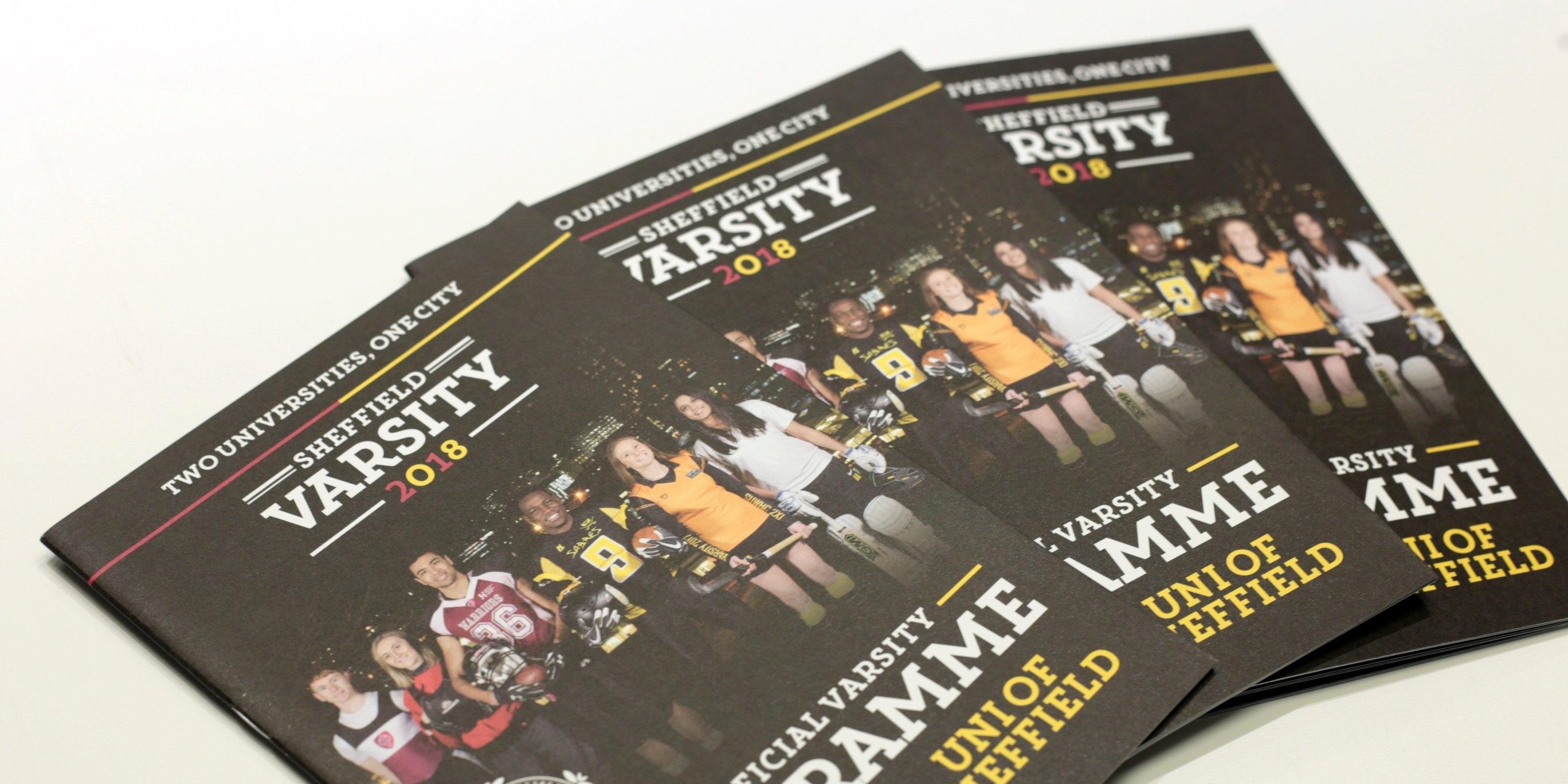 Sheffield University varsity event brochure