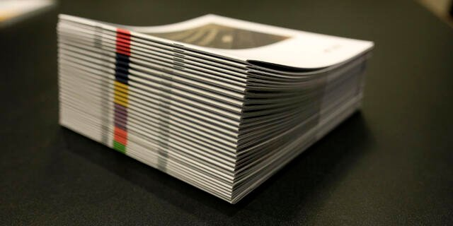 stacked booklets