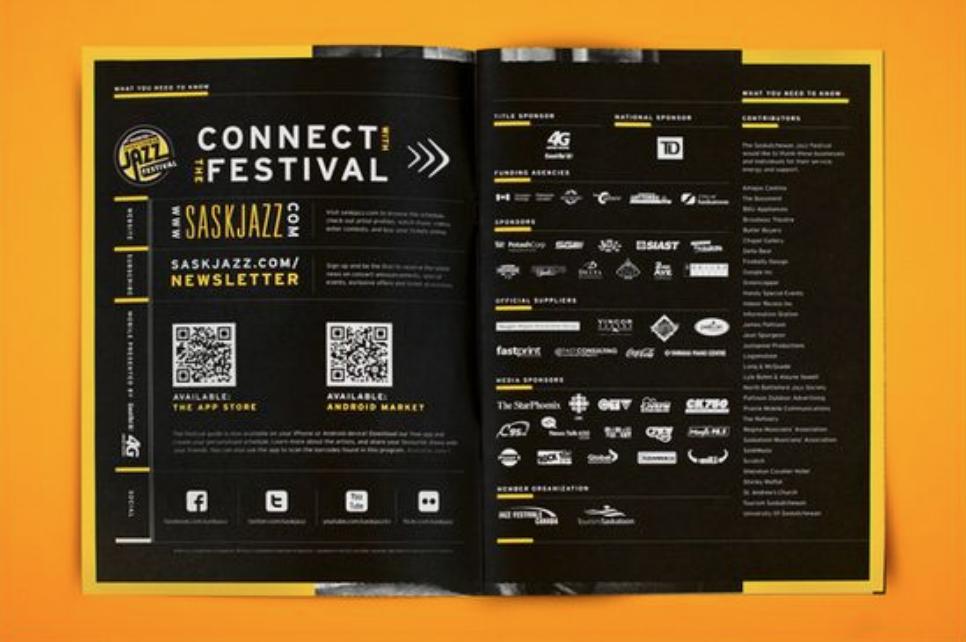 Art festival event brochure