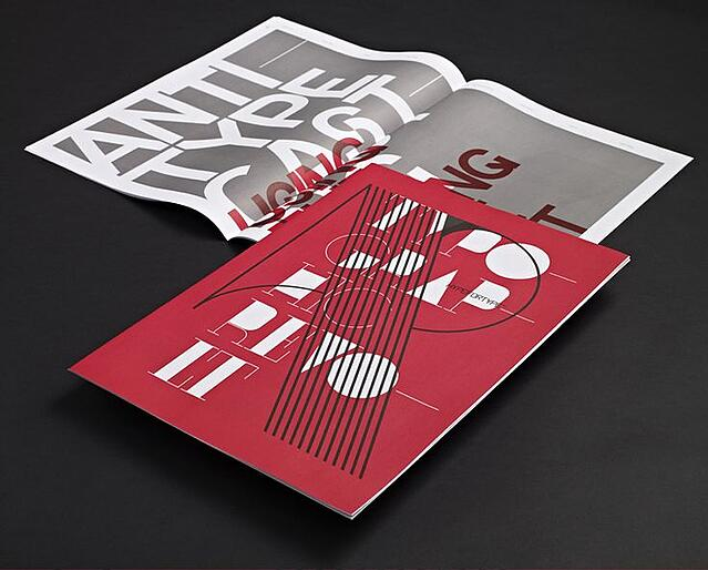 chaotic typeface brochure