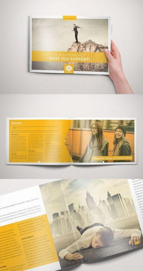 yellow landscape brochure
