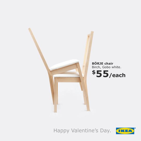 Ikea Valentine's campaign