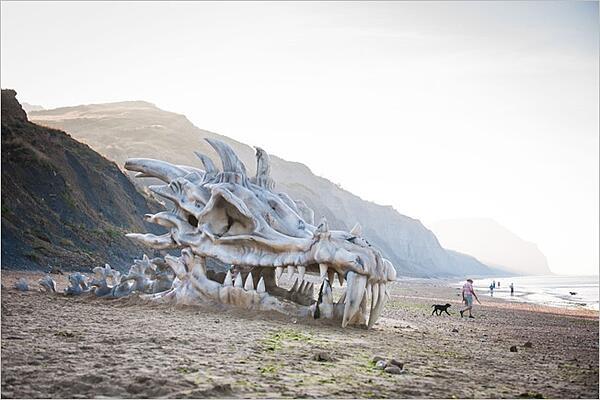 Game of Thrones dragon skull washed up on beach