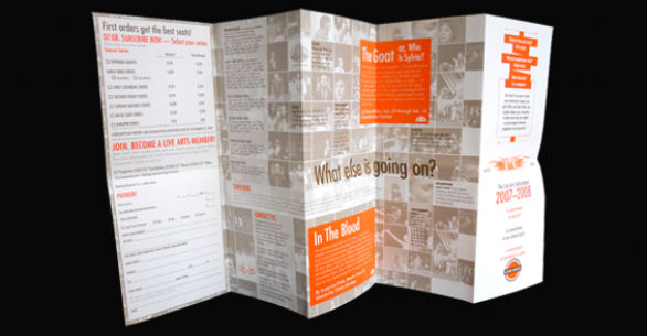 Event brochure example
