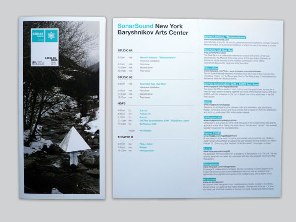 Simple event brochure design
