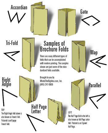 folding example brochures