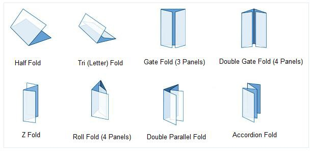 Different techniques of folding can be used